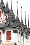 Iron temple Loha Prasat in Wat Ratchanatdaram Worawihan, Bangkok