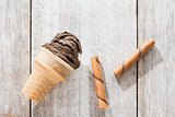 Brown ice cream