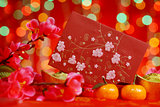 Chinese New Year festival in red background