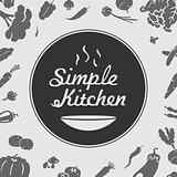 Simple Kitchen Vector Emblem