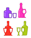 colorful alcohol icons
