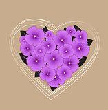 Vector floral heart