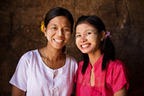 Two young Myanmar girls