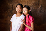 Two young Myanmar female