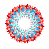 abstract wreath vector