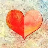 bright watercolor heart