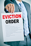 man with an eviction order