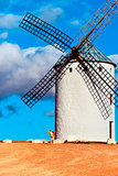 old windmill in Campo de Criptana, Spain
