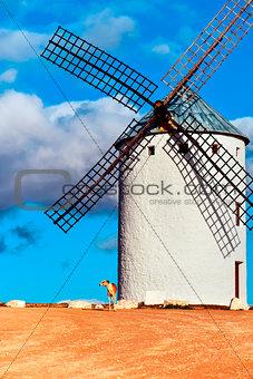 old windmill in Campo de Criptana, Spain