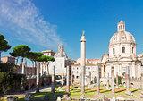 Forum - Roman ruins in Rome, Italy