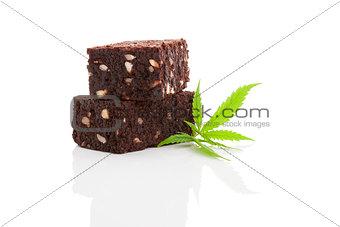 Cannabis brownie.