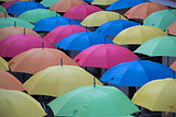 multicoloured parasols background