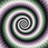 Coiled Spiral in Green and Violet