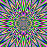 Blue Pink Green and Violet Star Burst