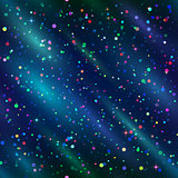 Seamless background, confetti in space