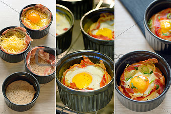 Breakfast cups egg with bacon
