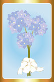 Birthday card with hortensias