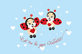 Ladybugs in love - Valentines Day