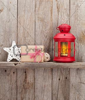 Christmas candle lantern and decor