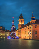 Christmas tree in old Warsaw