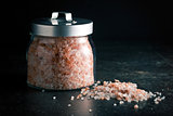 Himalayan salt in jar