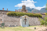 Wooden cross in front of the Castle of Good Hope