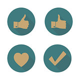 Set of icons, vector illustration.