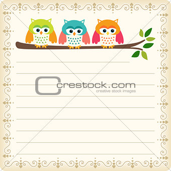 Three owls blank template