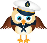 Cute sailor owl