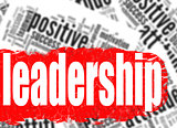 Word cloud leadership business sucess concept