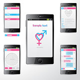 Simple dating mobile application ui