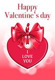 Holiday heart shaped card