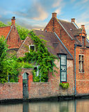Bruges historical houses and canals