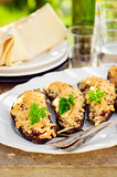 Stuffed Eggplant Halves