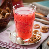 Red Currant and Orange Fool with Cracker Rings