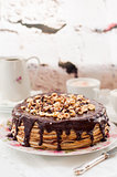 Chocolate and Hazelnut Crepe Cake