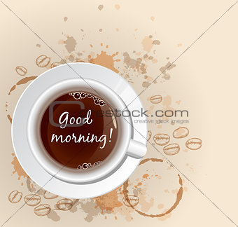 Abstract background with coffee