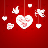 Red romantic background