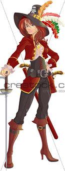 beautiful girl pirate
