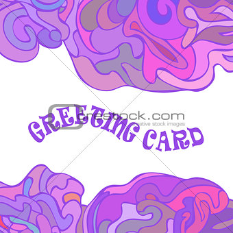 Abstract greeting card with swirls motifs