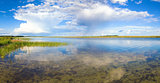 Summer lake panorama.
