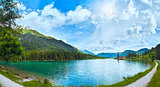 Alpine summer lake panorama