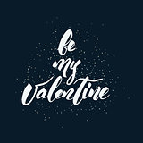 Happy Valentine's Day handwritten lettering