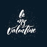 Happy Valentine's Day handwritten lettering