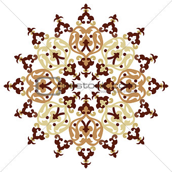 Antique ottoman turkish pattern vector design one