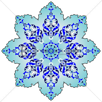 Antique ottoman turkish pattern vector design seven