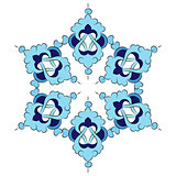 Antique ottoman turkish pattern vector design six