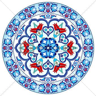 Antique ottoman turkish pattern vector design thirty eight