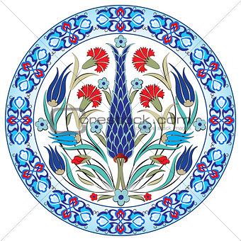 Antique ottoman turkish pattern vector design thirty nine