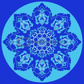 Antique ottoman turkish pattern vector design thirty one